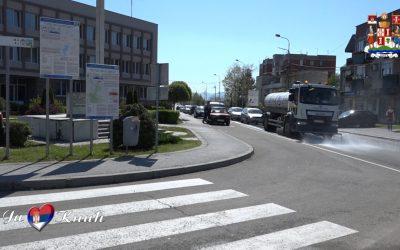 Поново се дезинфикују улице, јавне површине и јавни објекти у општини Кнић